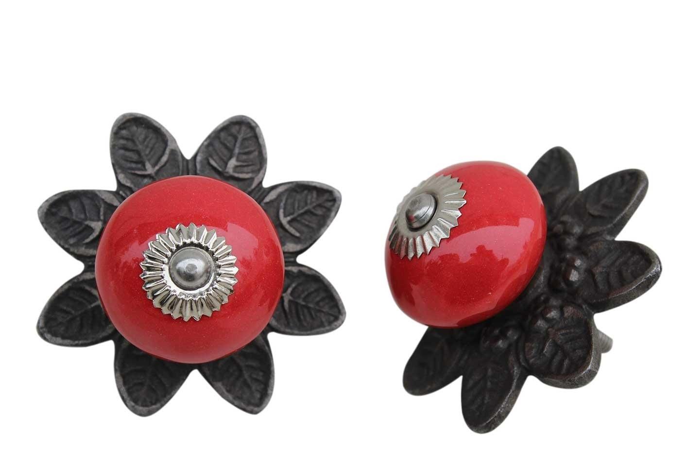 Red Ceramic Protia Knob