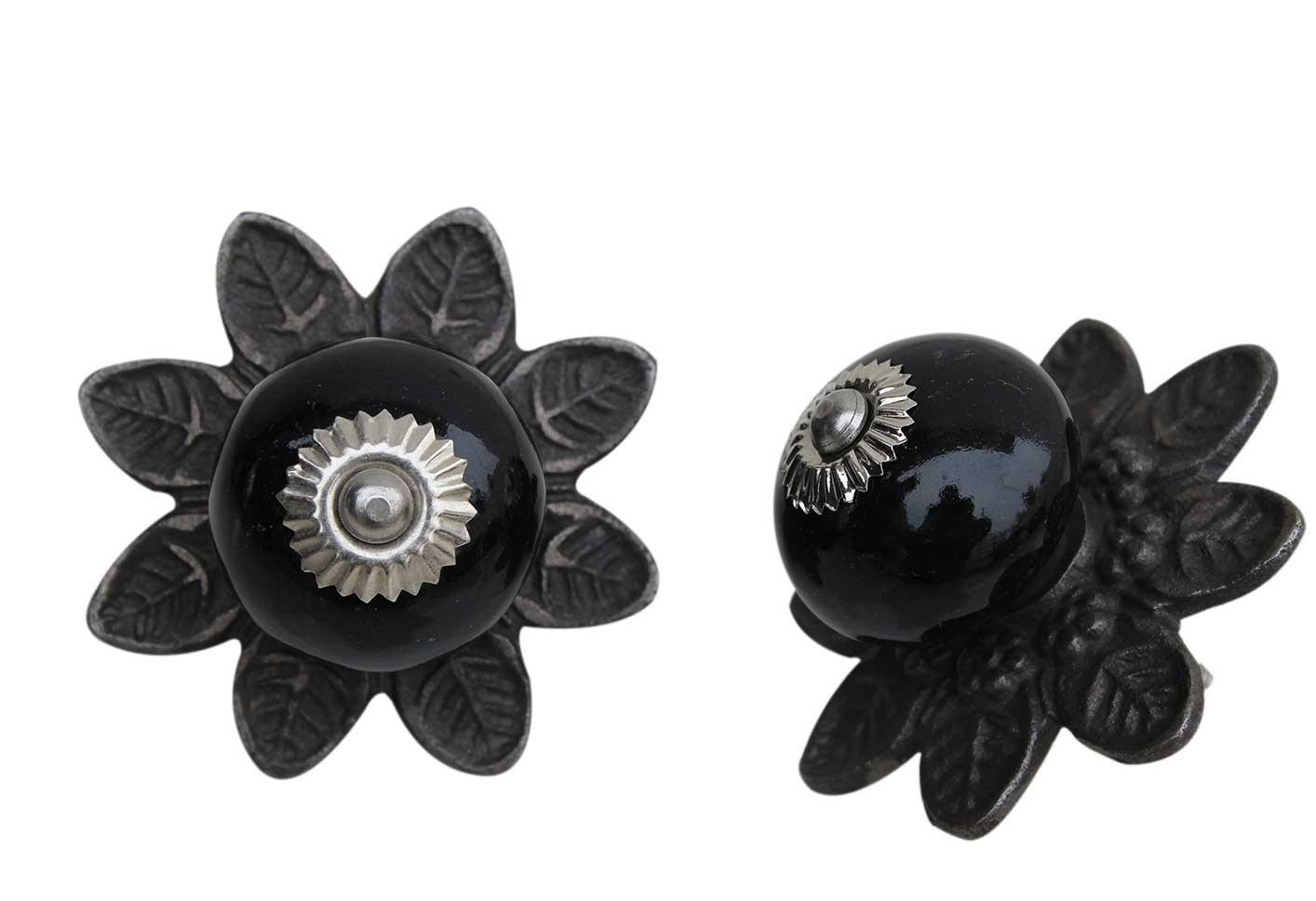 Black Ceramic Protia Knob