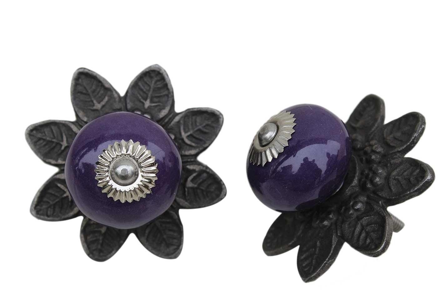Purple Round Protia Knob
