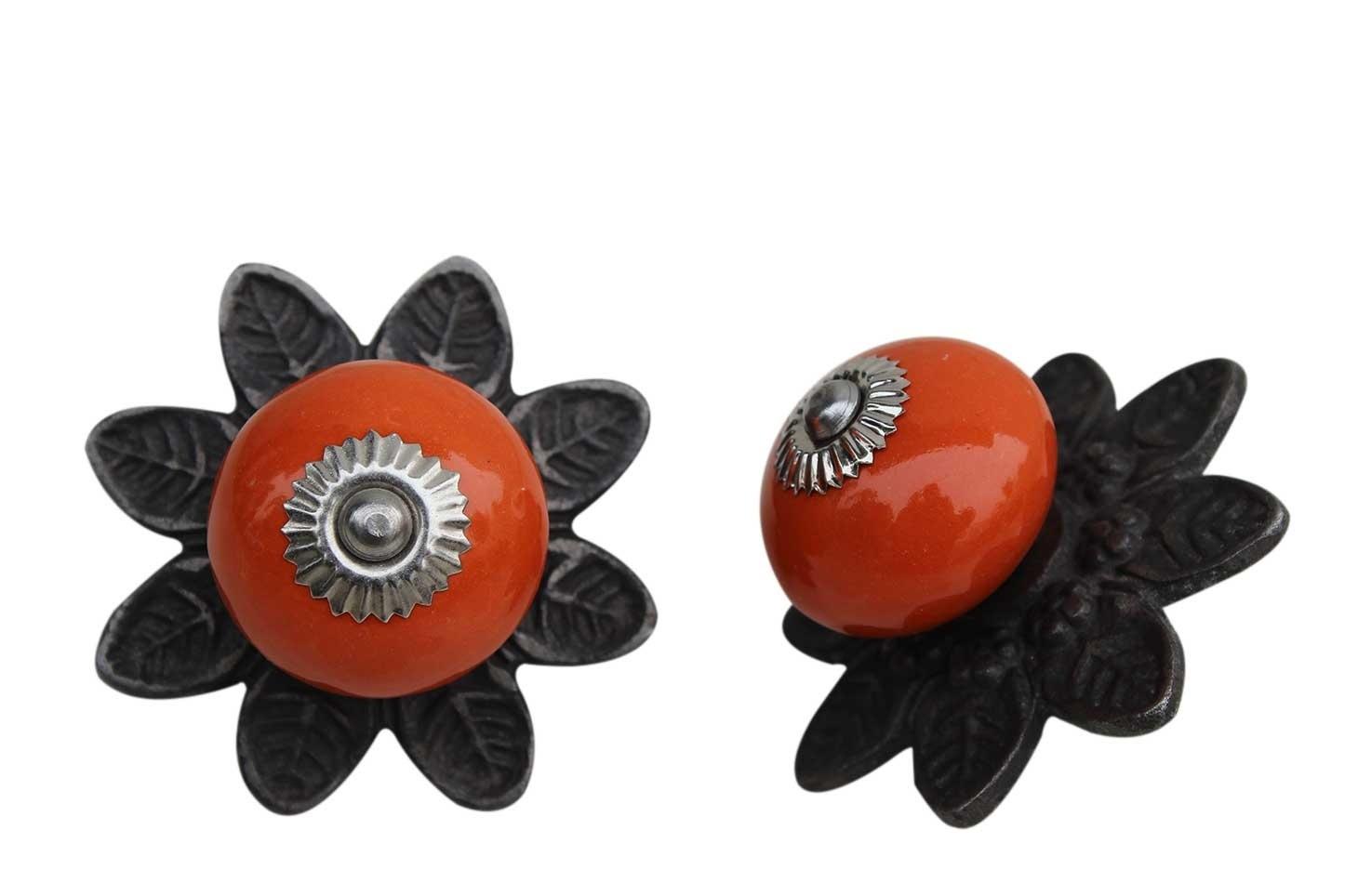 Orange Round Protia Knob