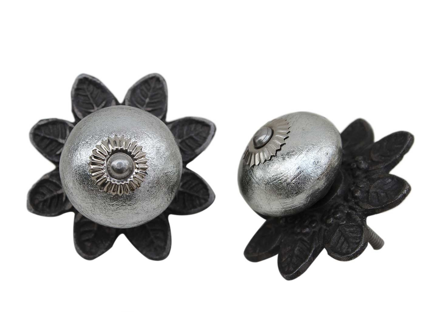 Silver Ceramic Protia Knob