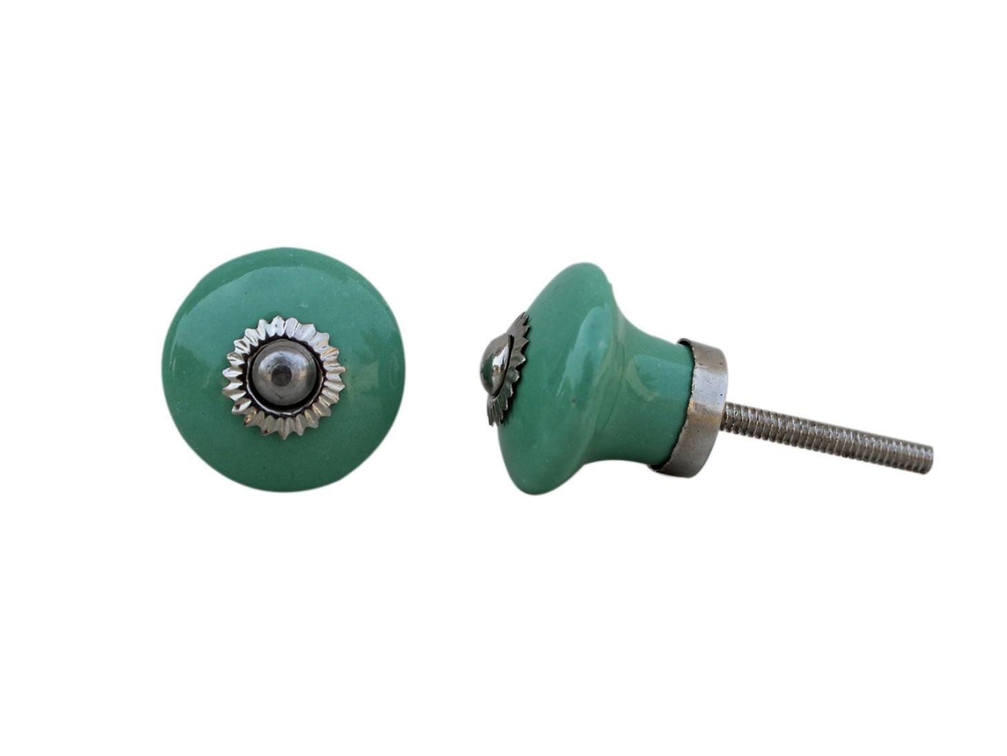 Sea Green Bulb Small  Knob