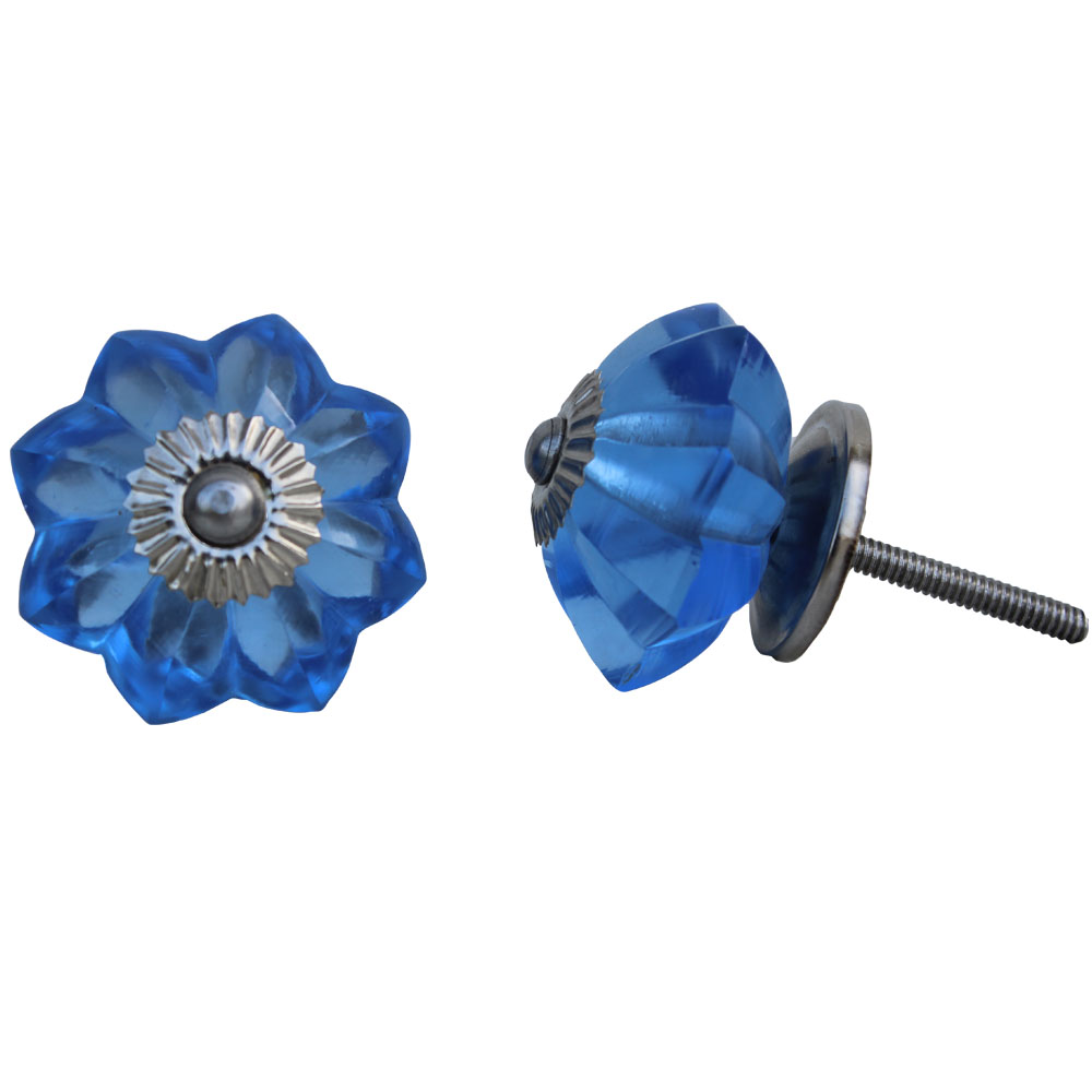 Blue Glass Knob, Small