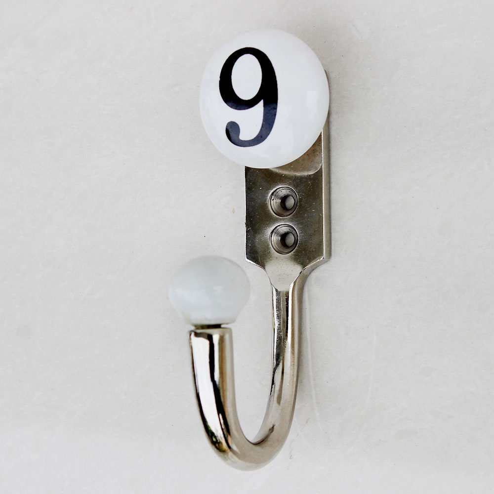Number Ceramic Hooks -9