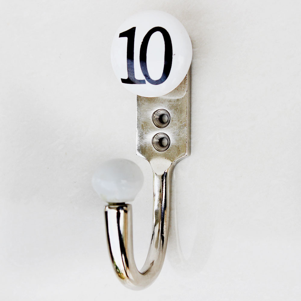 Number Ceramic Hooks -10