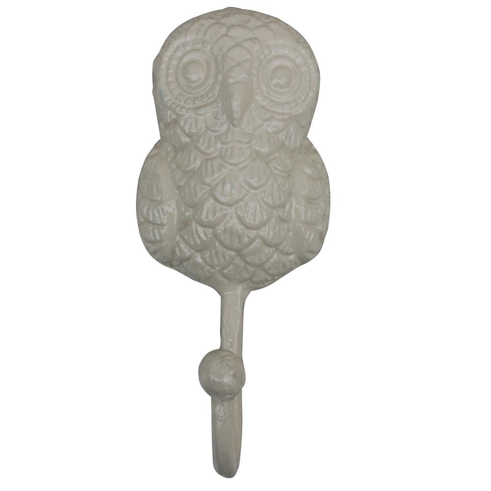 Cream Owl Hooks