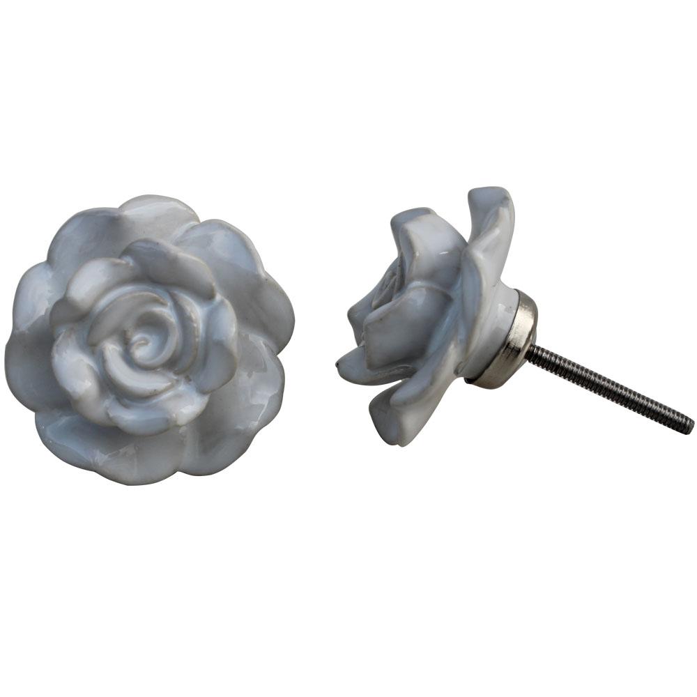 White Flower Knob