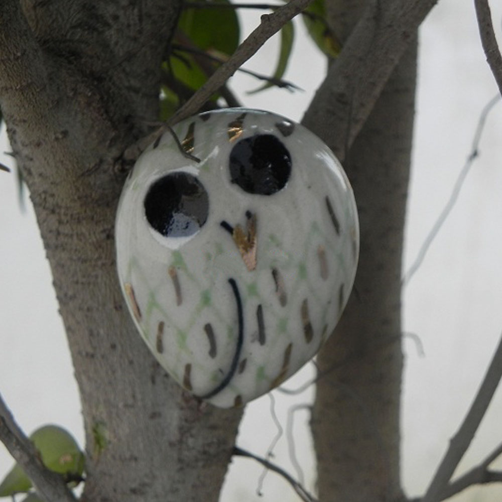 Owl Ceramic Bird Knob
