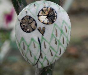 Green Owl Cabinet Bird Knob