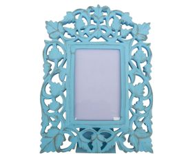 Turquoise Golden Photo Frame
