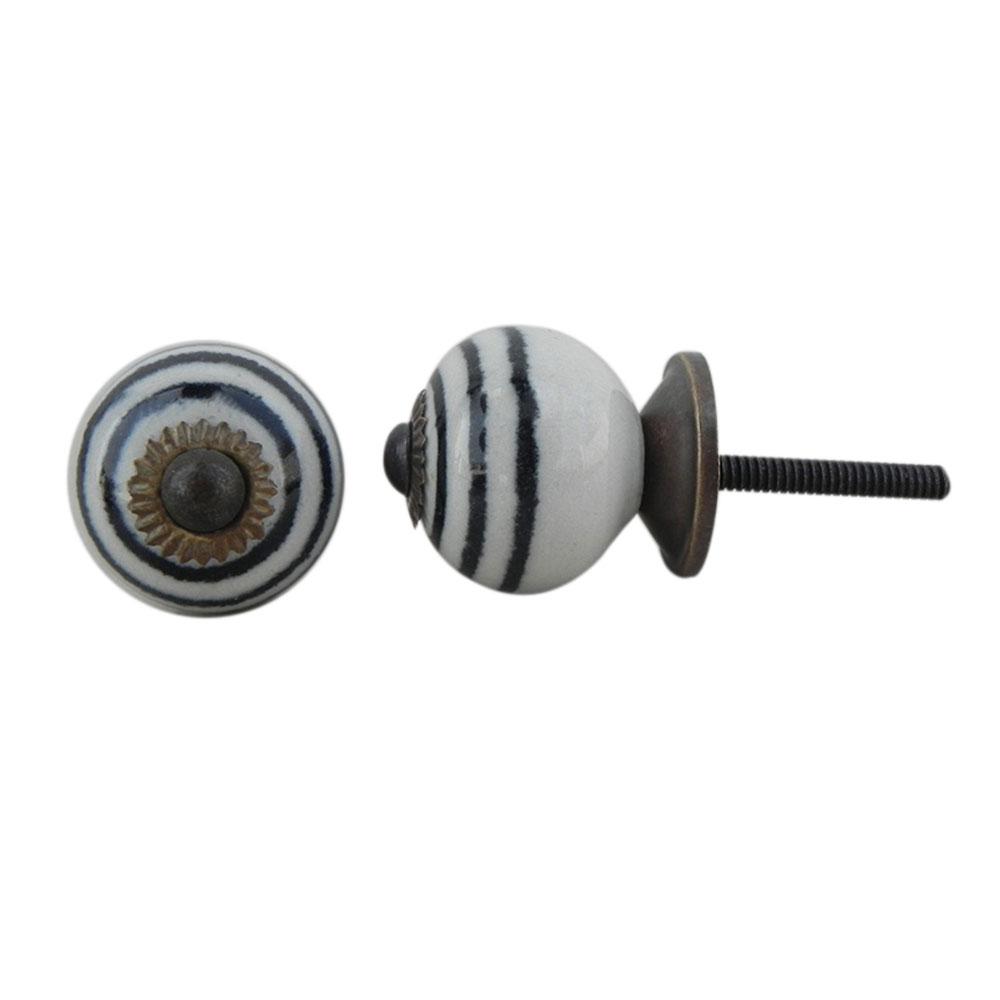 Black Striped Small Knob