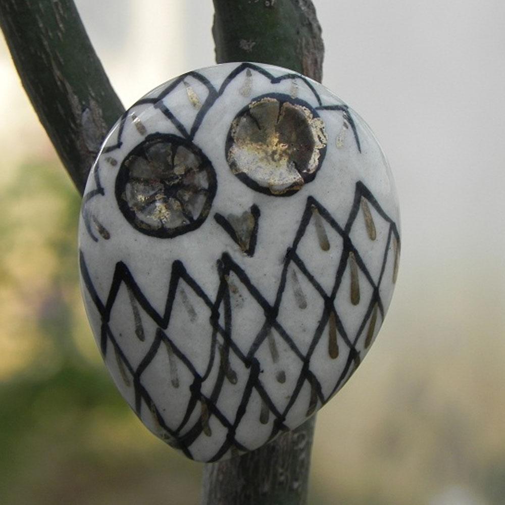 Black Owl Cabinet Bird Knob
