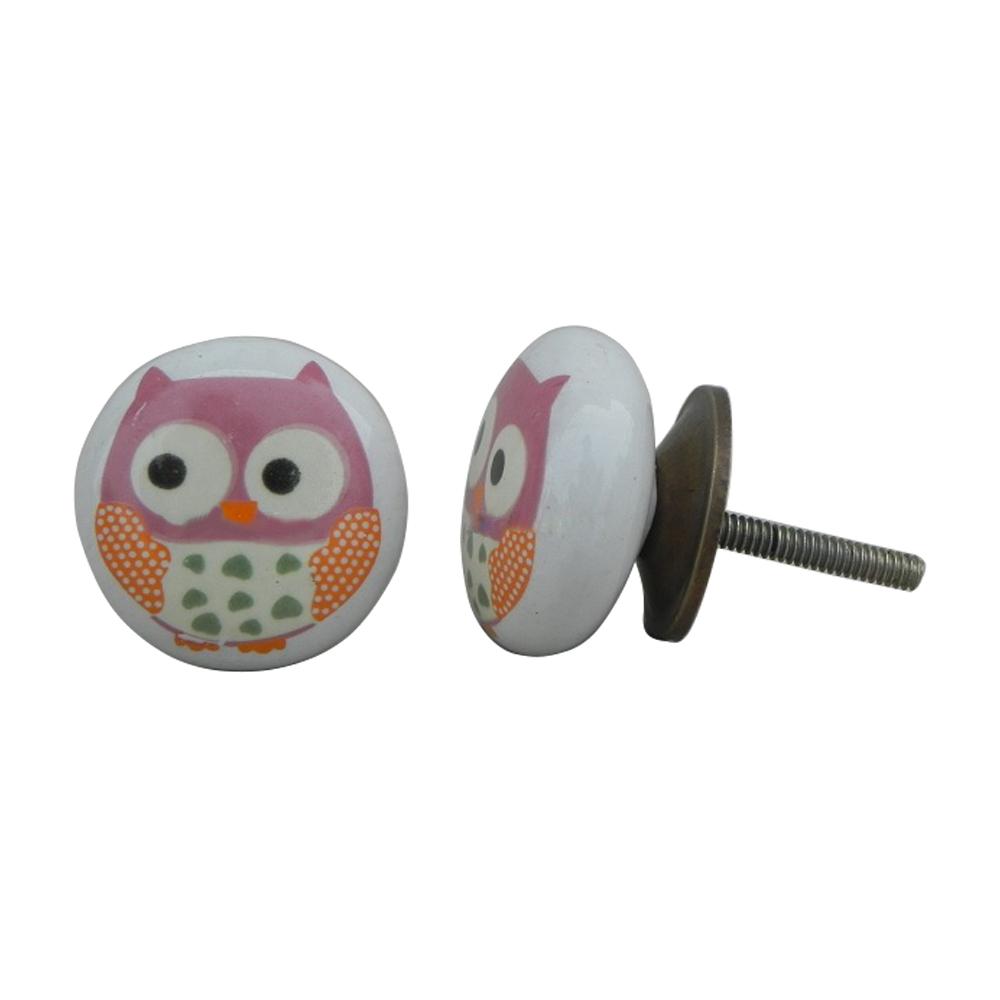 Owl Flat Knob