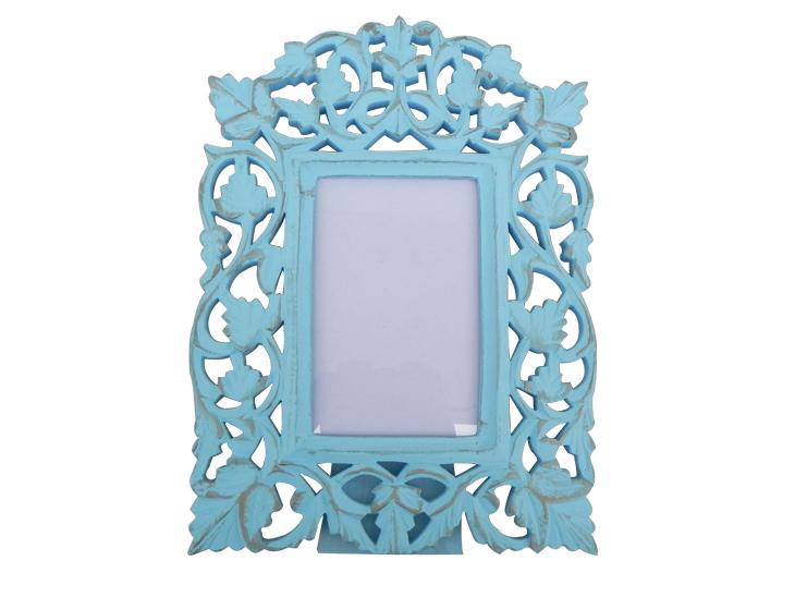 Turquoise Golden Photo Frame