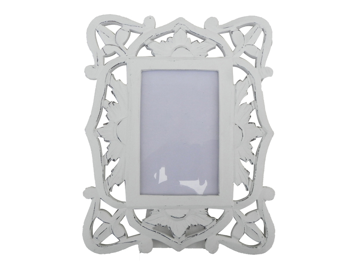 Stressed white photo frame