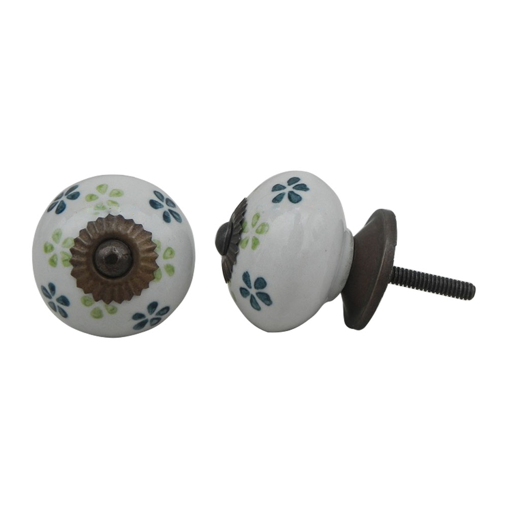 Green Lime Floral Knob (1)