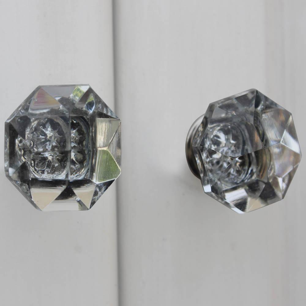 Diamond Cut Glass Drawer Knobs Online