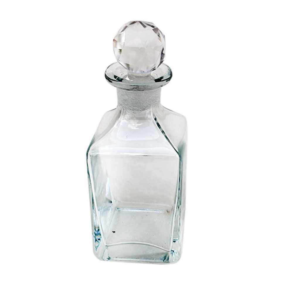 Square Shaped Decorative Glass Bottle
