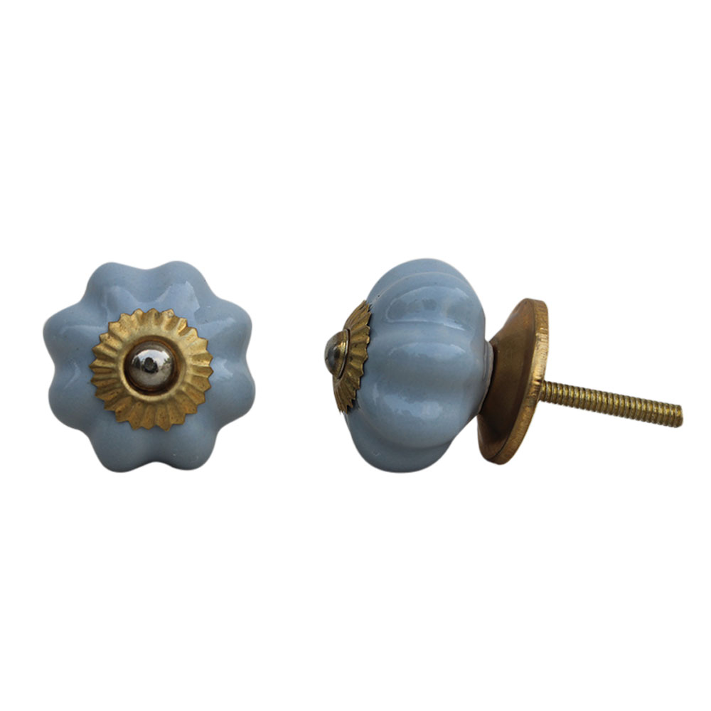 Light Grey Medium Ceramic Knob