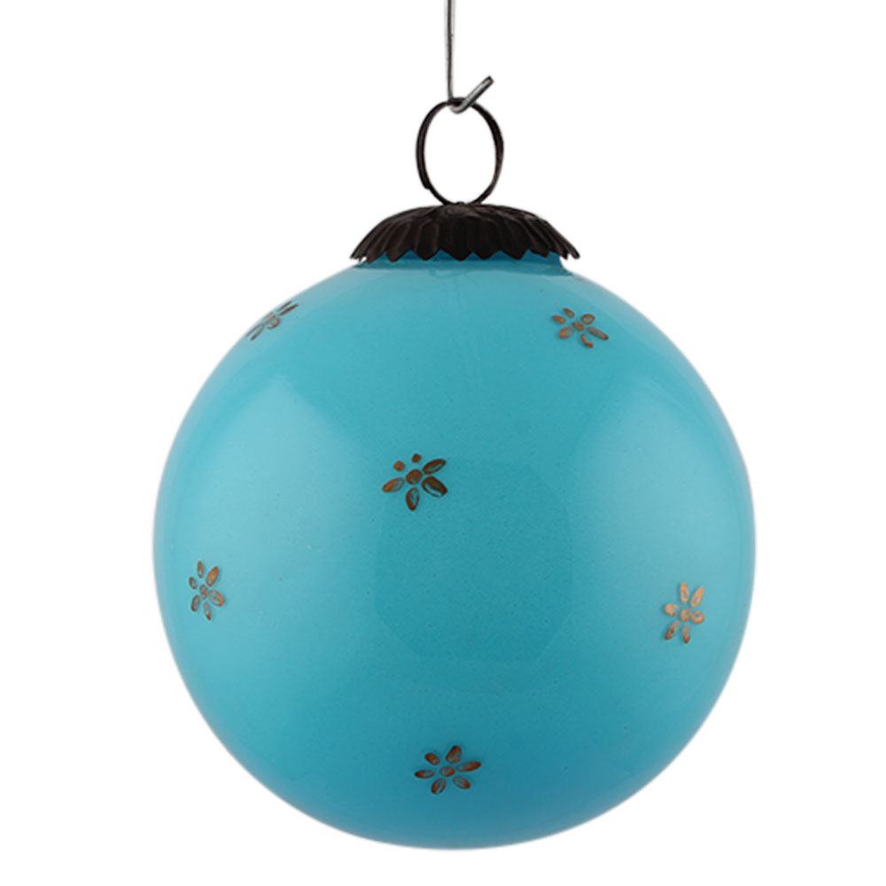 Turquoise Tiny Flower Big Christmas Hanging