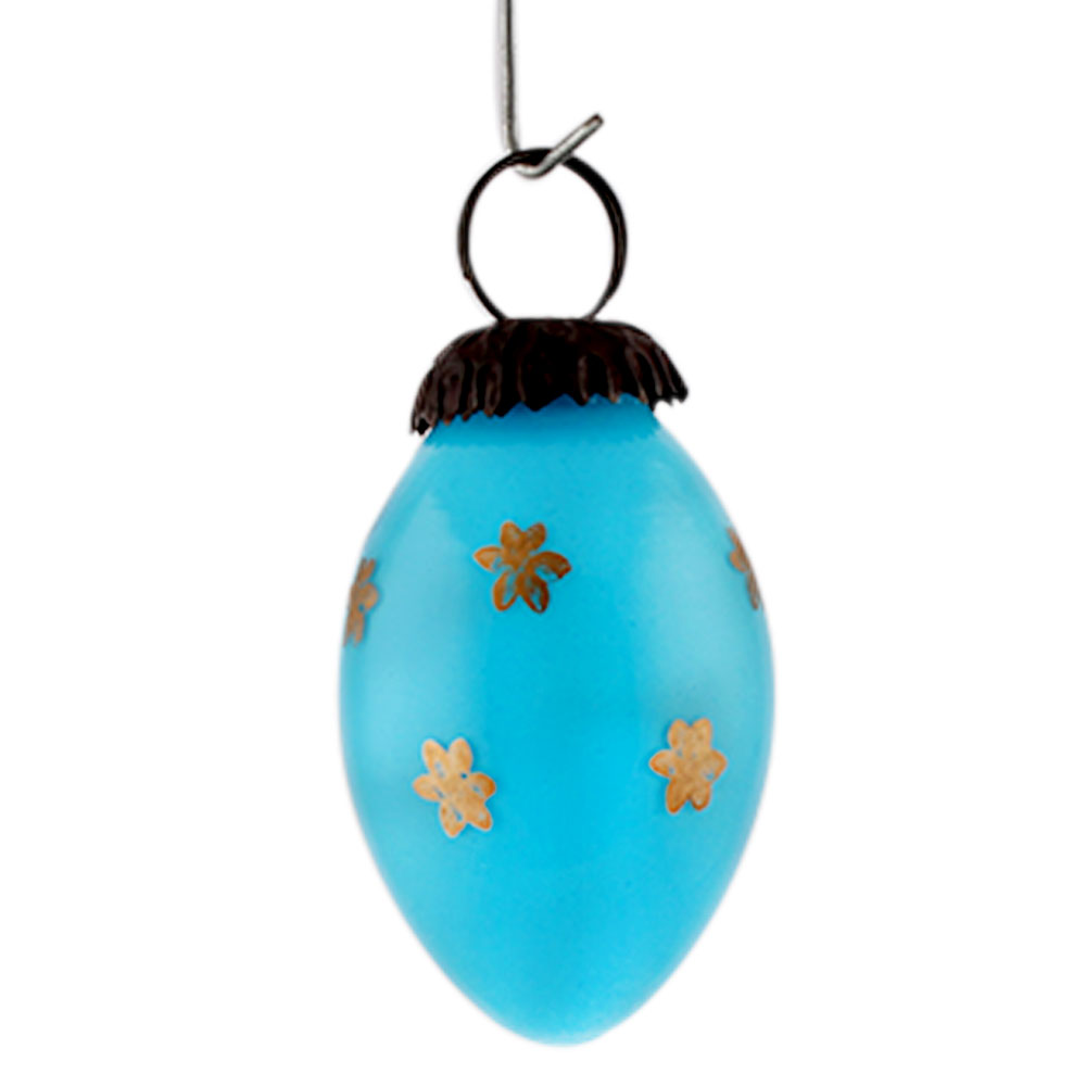 Turquoise Tiny Flower Avocado Small Christmas Hanging