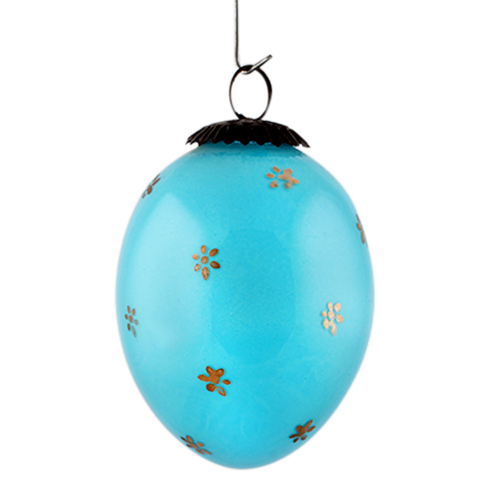 Turquoise Tiny Flower Avocado Big Christmas Hanging
