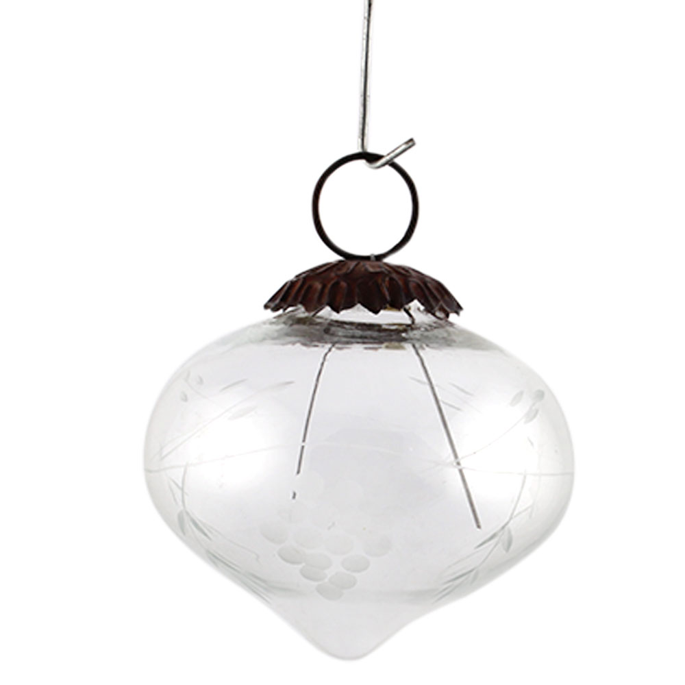 Clear Turnip Grapes Cut Christmas Hanging