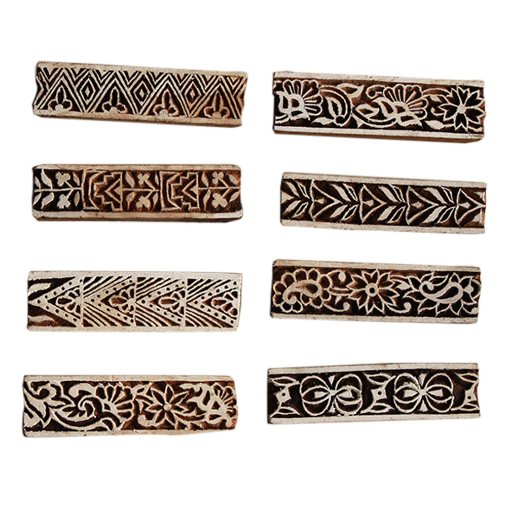 Set  of 8 Piece New Wooden Printing Block