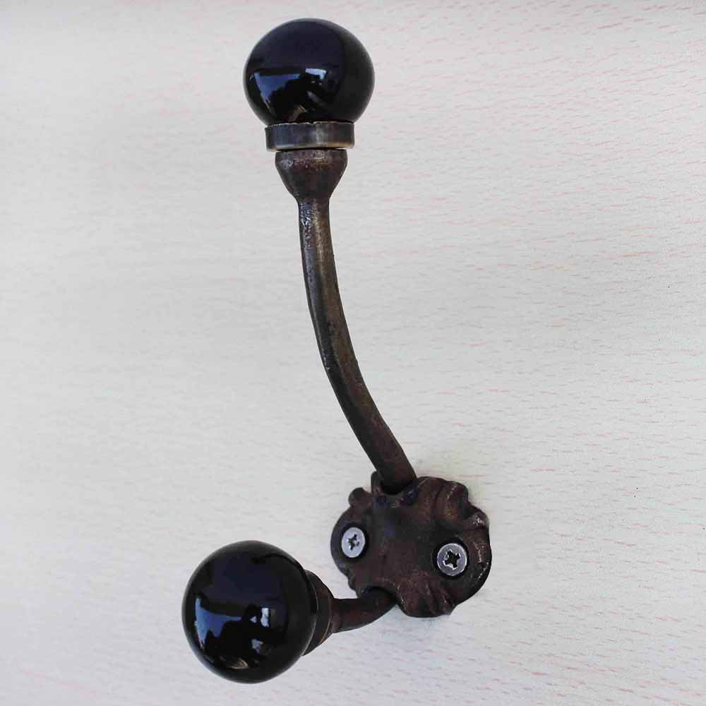 Solid Black Iron Hooks-EHG-33