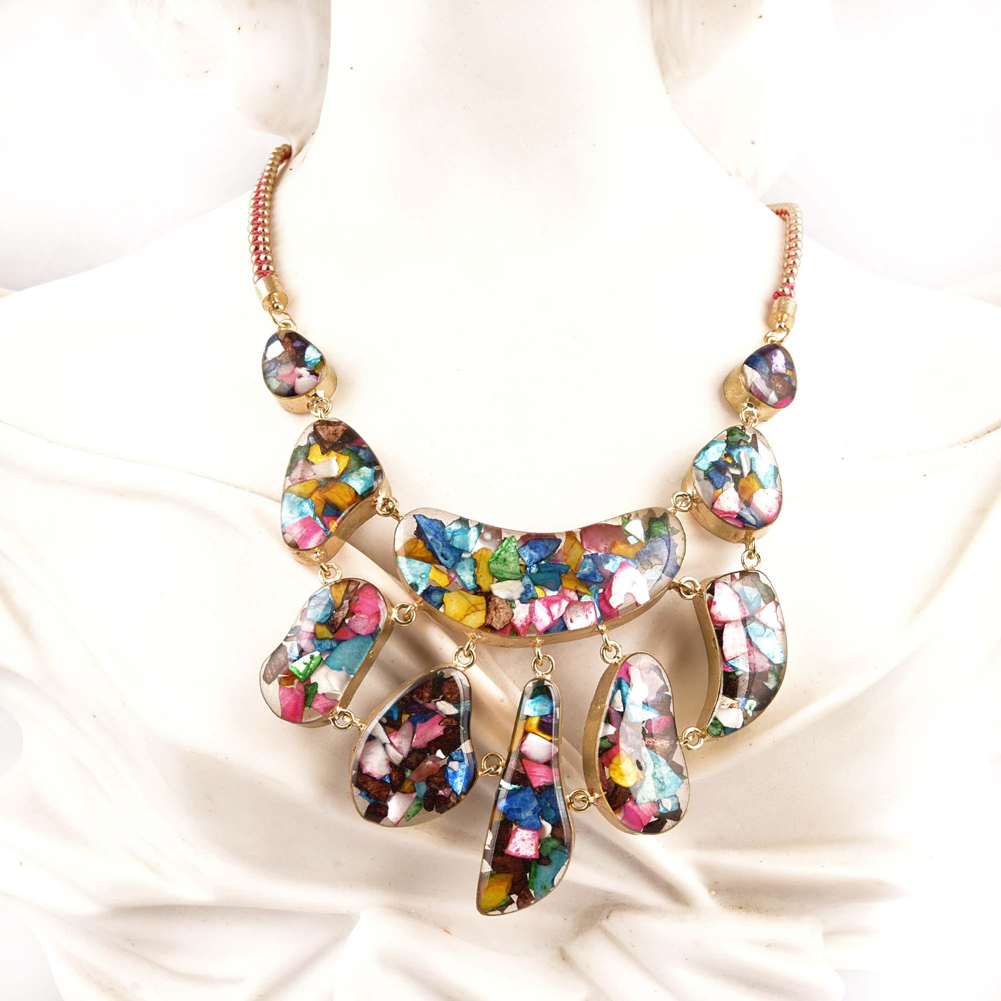 Multi Colour Beautiful Necklace New Designer Jewellery