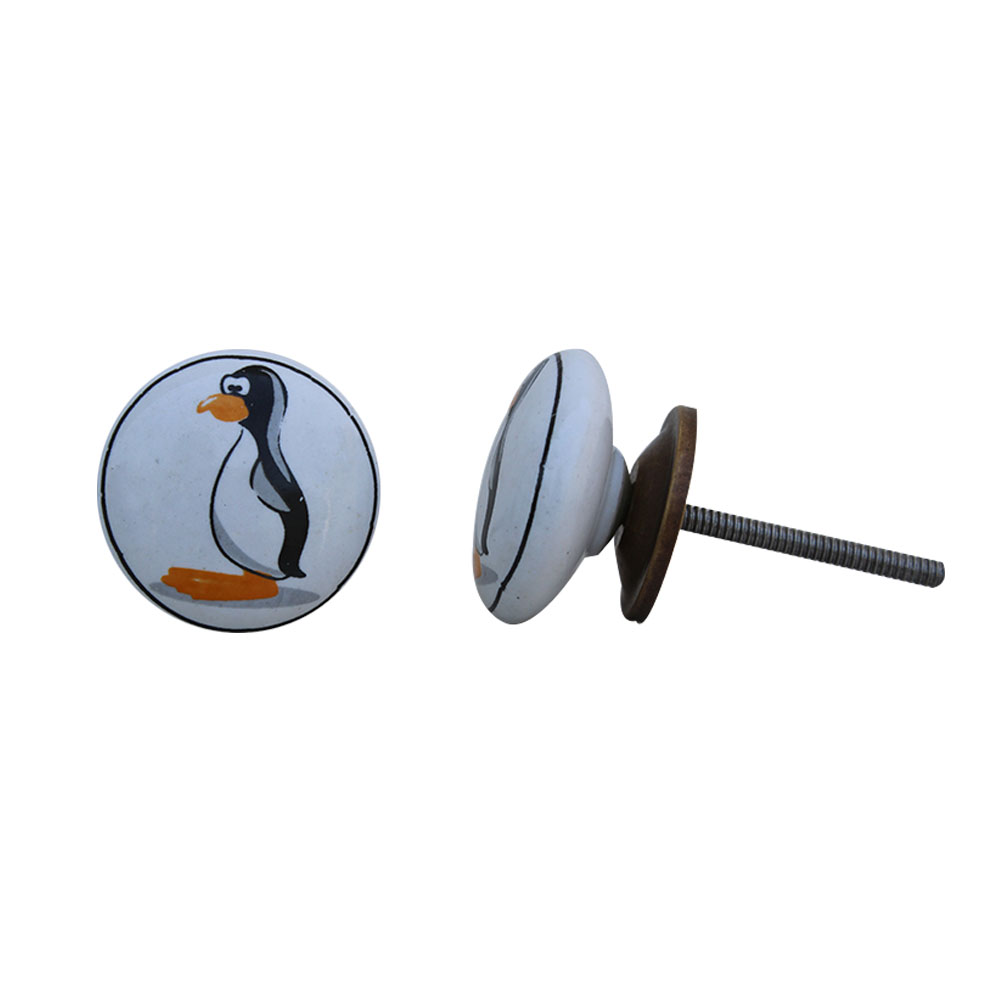Penguin Flat Ceramic Knob