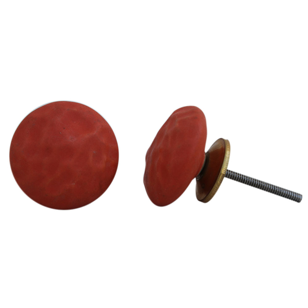 Red Solid Knob