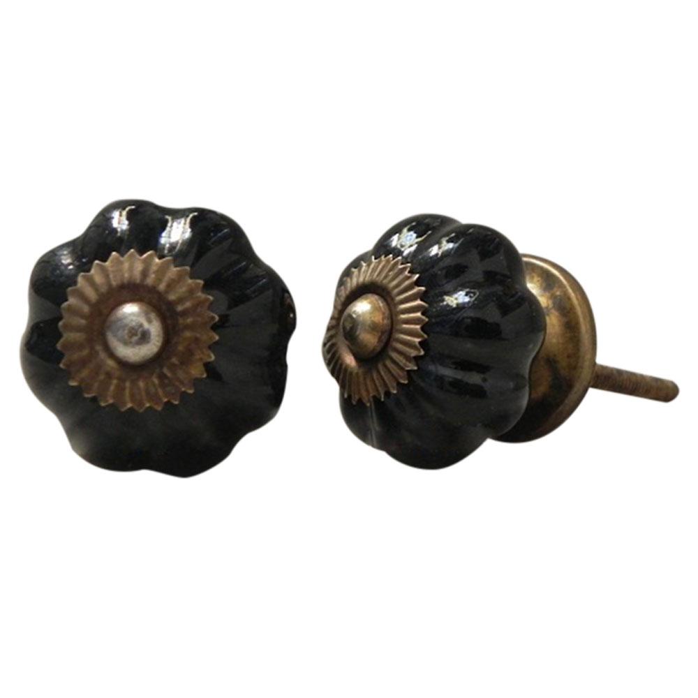 Solid Black Medium Knob