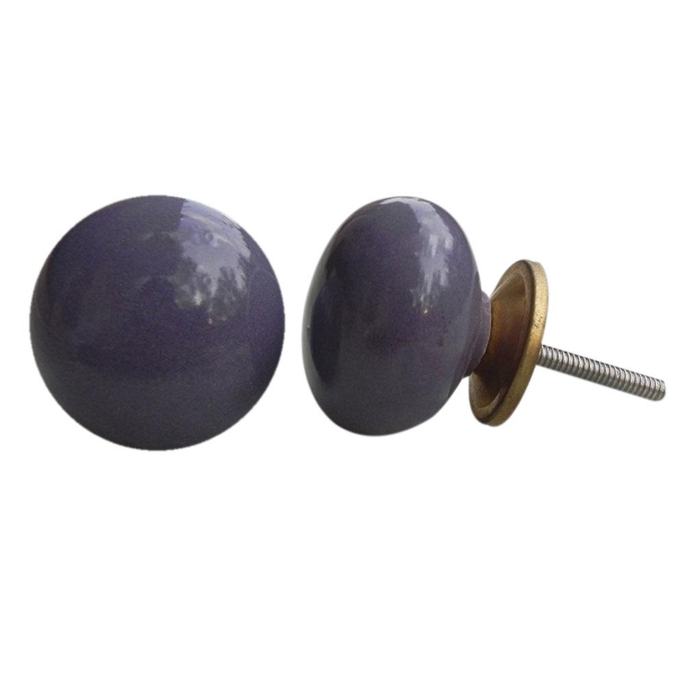 Purple Solid Knob