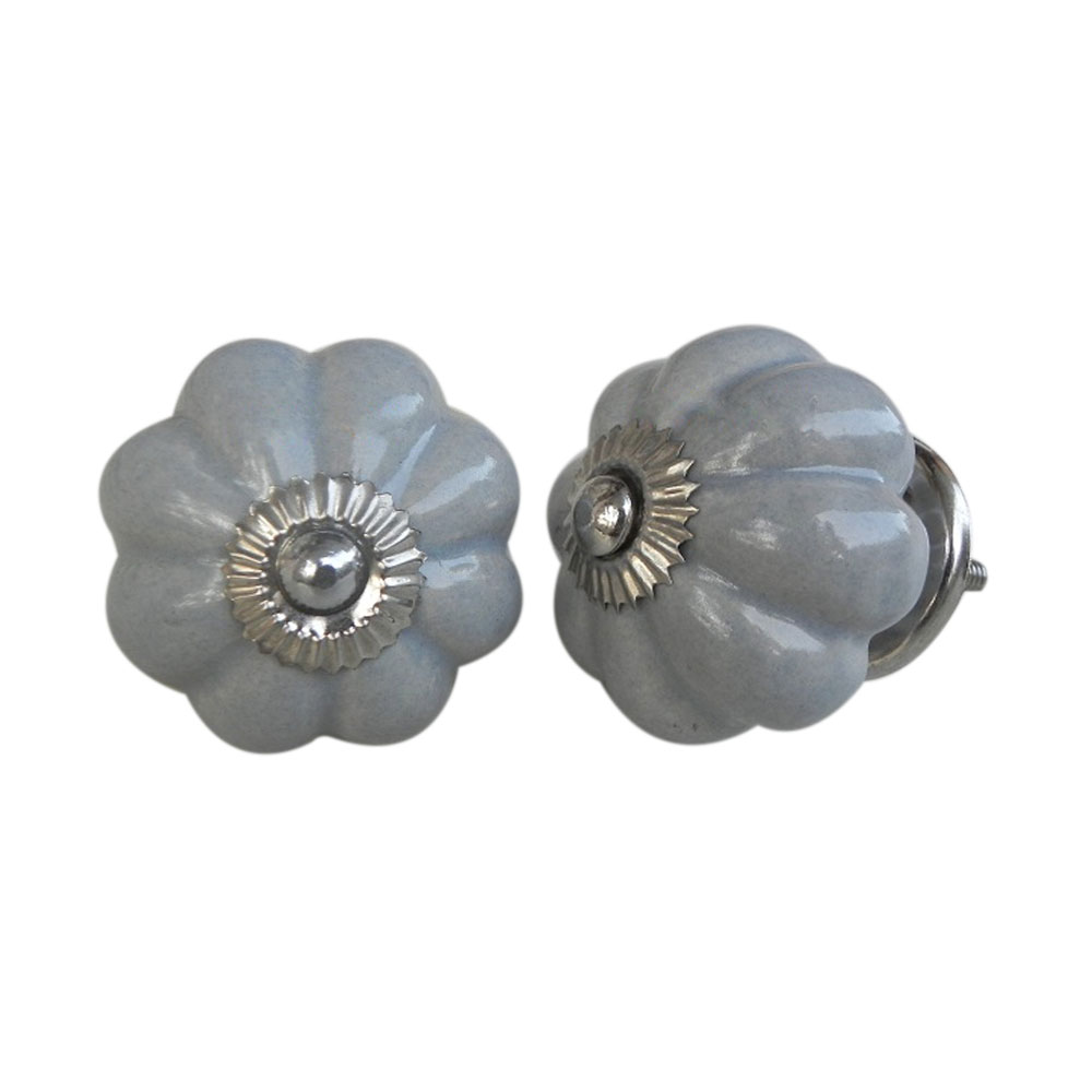 Light Grey Melon Knob