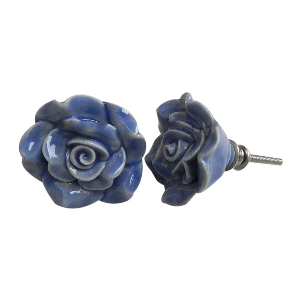 Blue Rose Knob