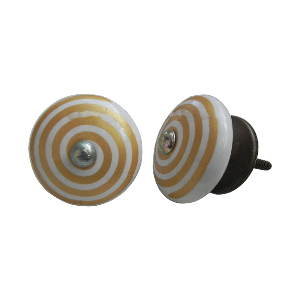 Golden Pattern Flat Knob