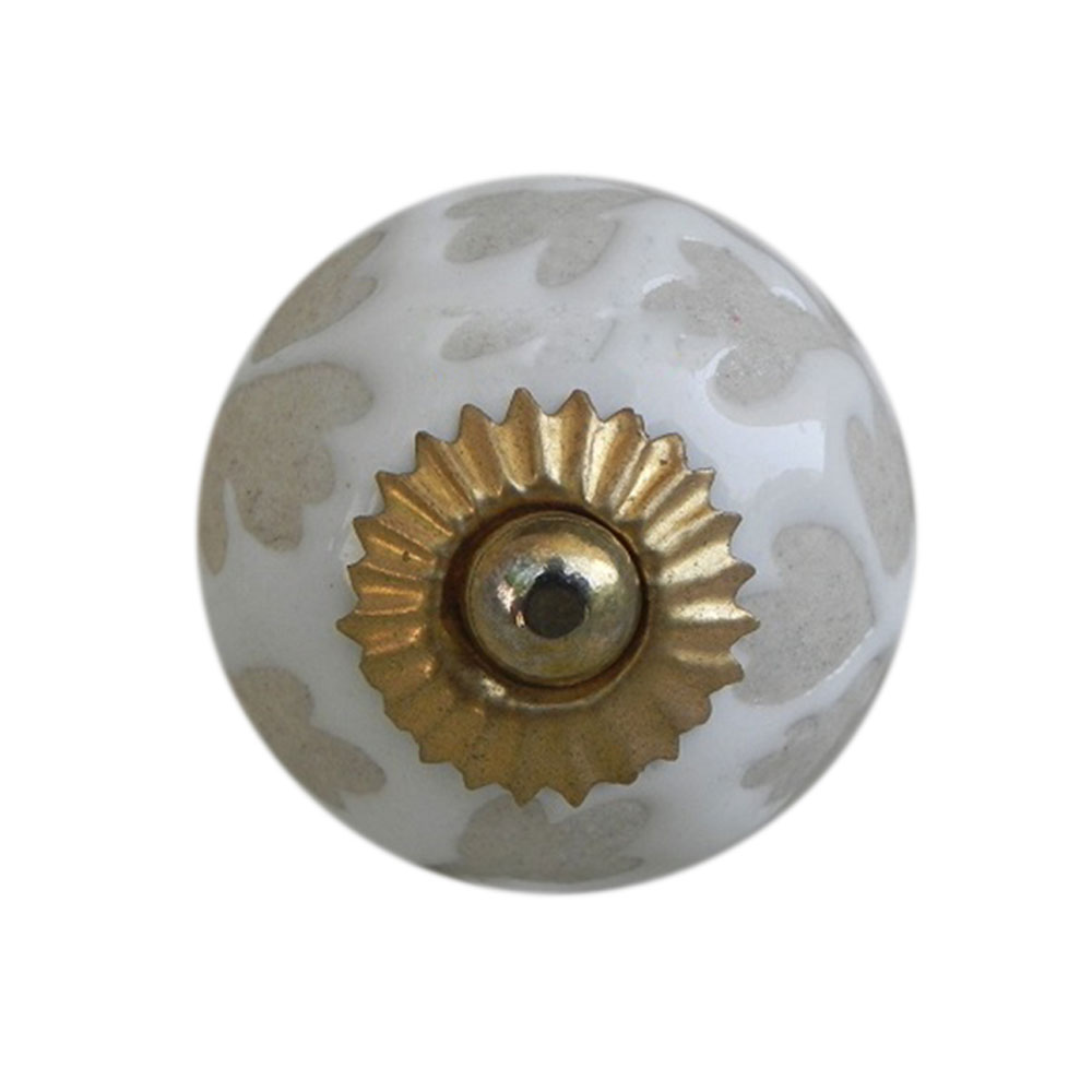 White Etched Ceramic Knob-27