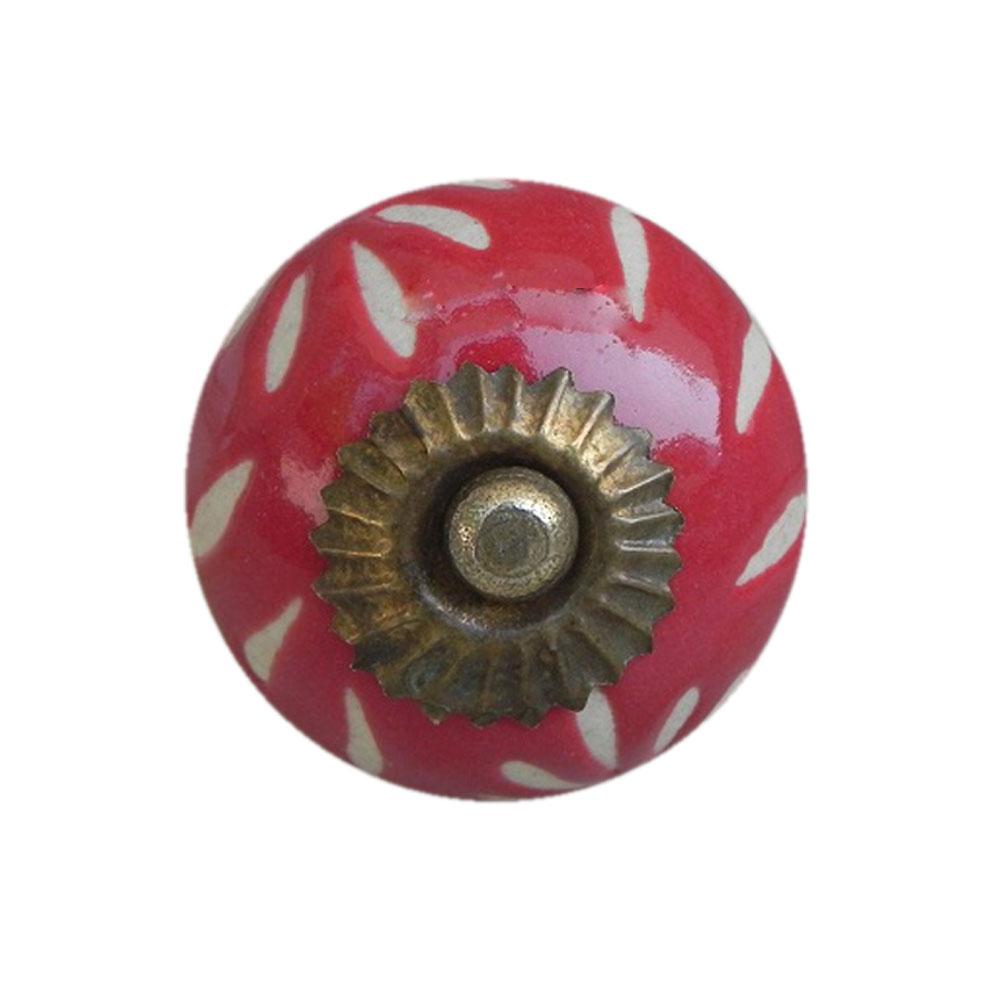 Red Etched Ceramic Knob-19