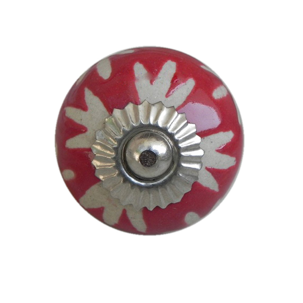 Red Etched Ceramic Knob-18