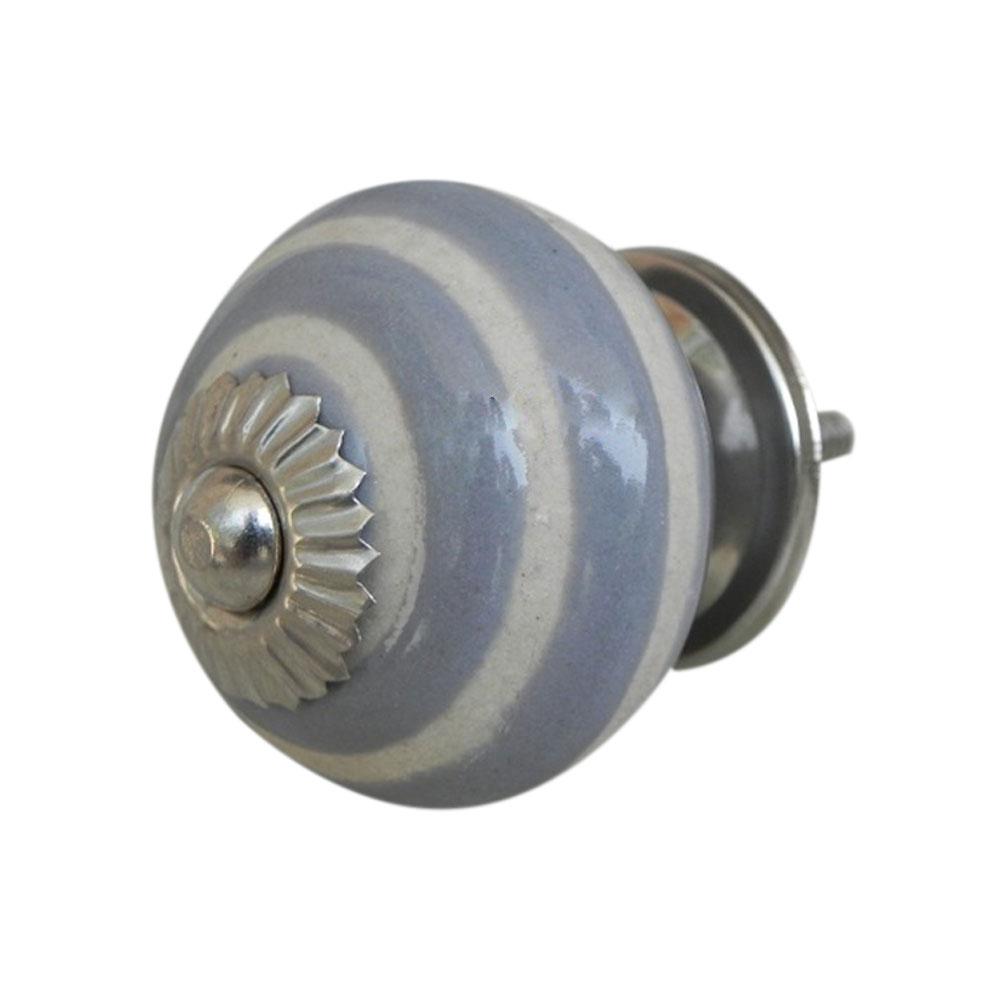 Grey Striped Knob