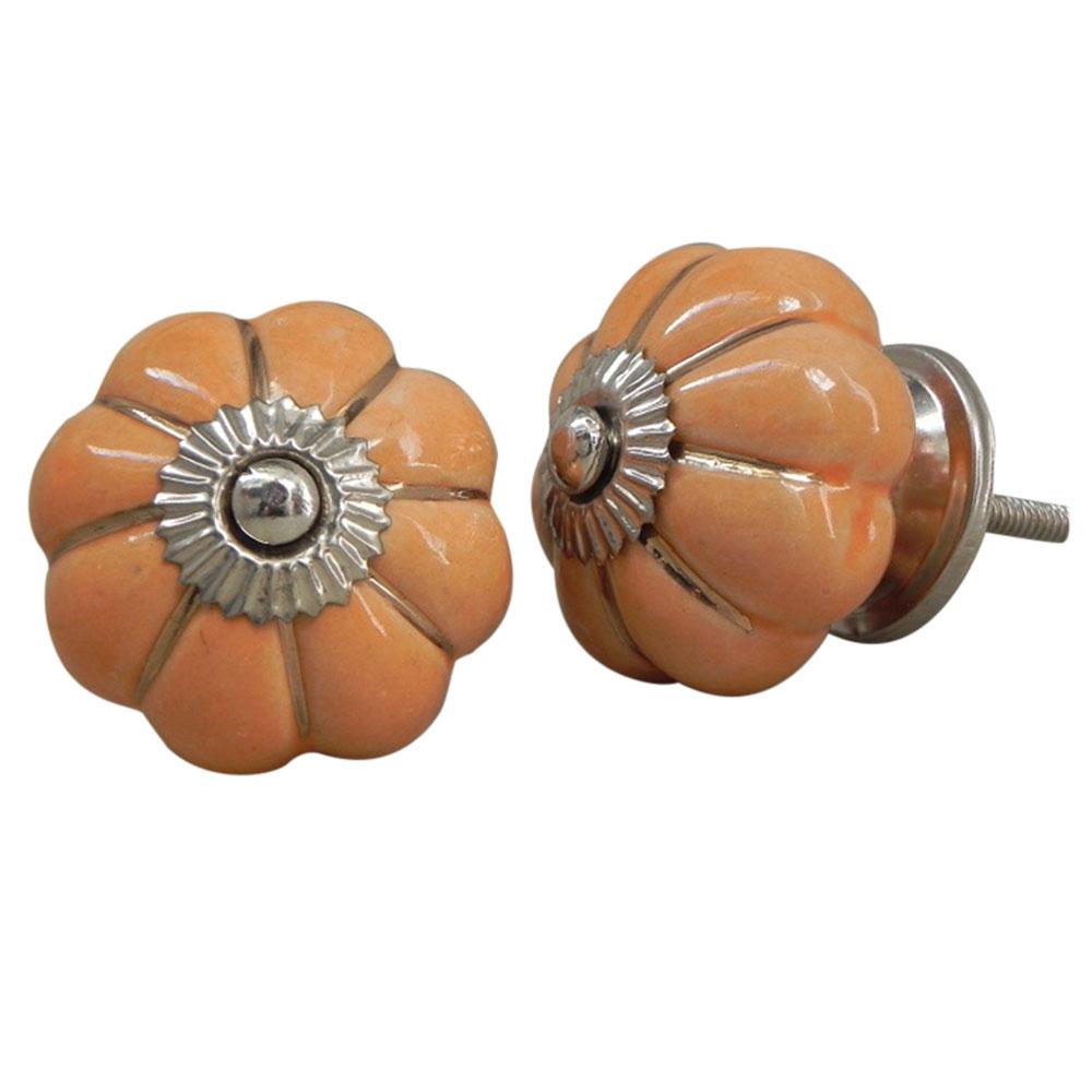 Sea Orange Ceramic Knob