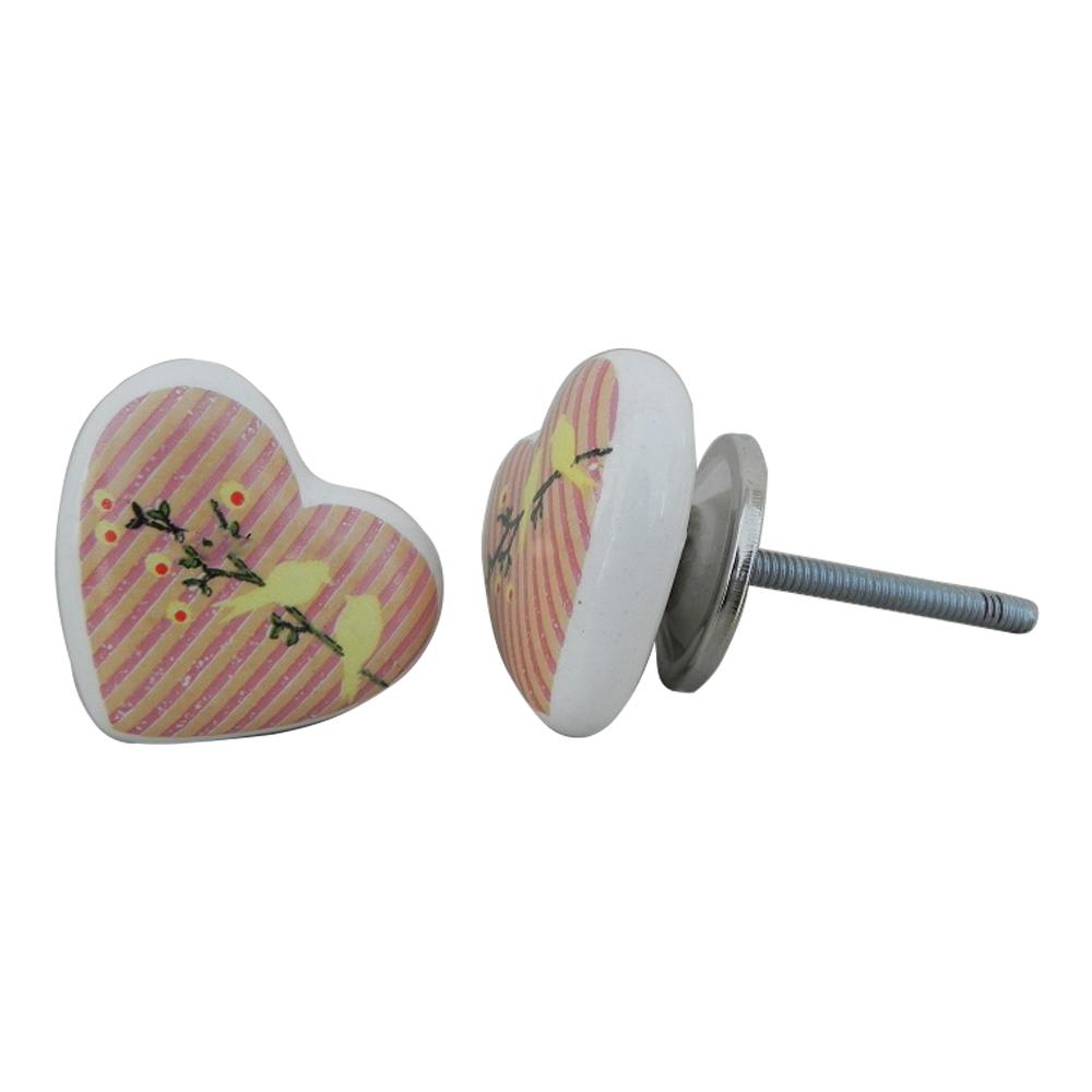 Birds Heart Ceramic Knob