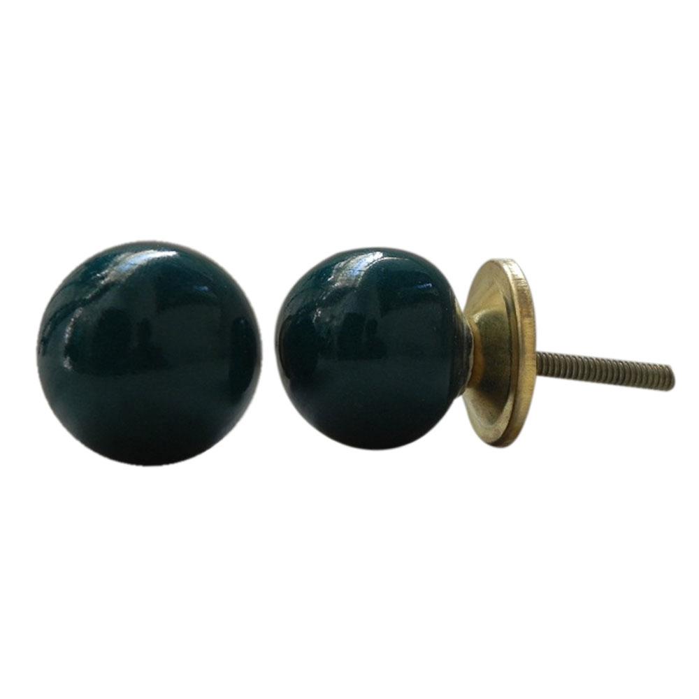 Dark Green Knob Small