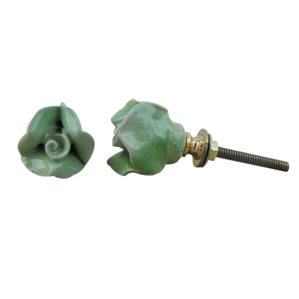 Green Small Rose Knob