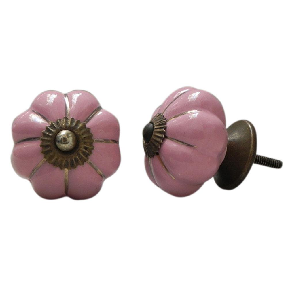 Pink Melon Ceramic Knob