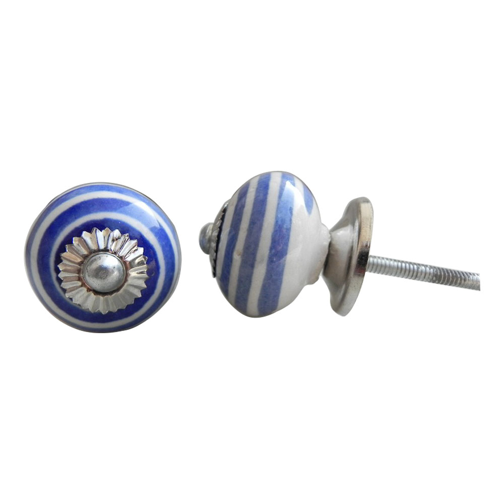 Blue Swirls Knob Small