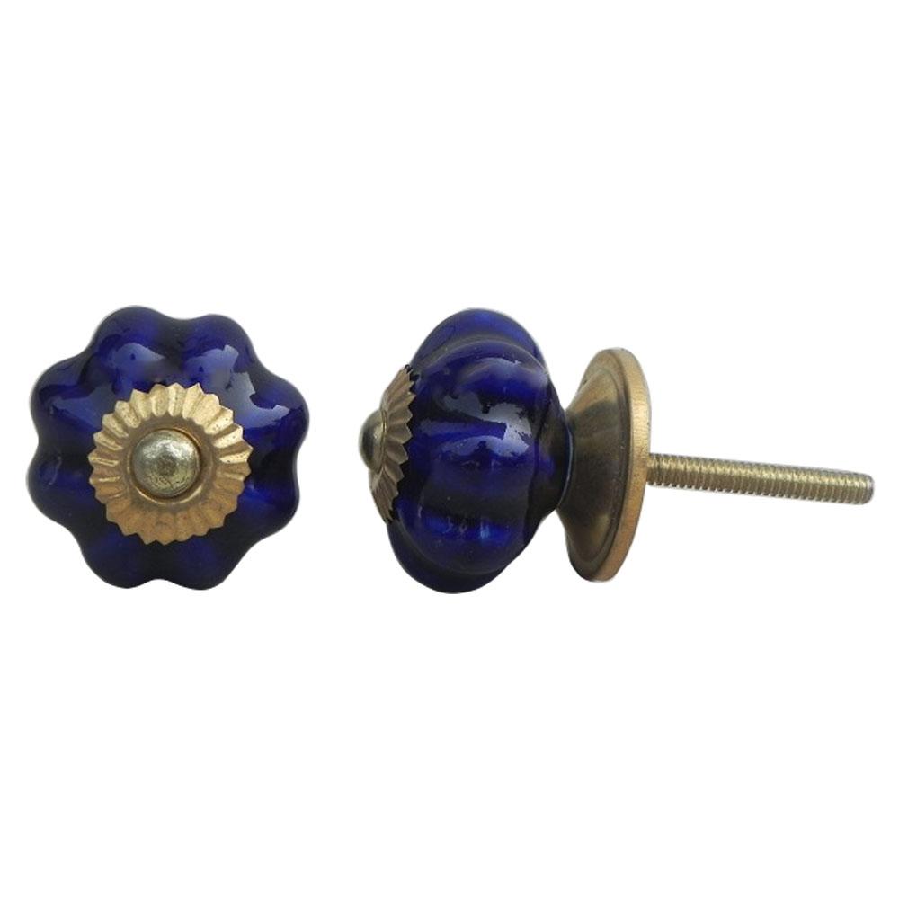 Navy Blue Medium Knob