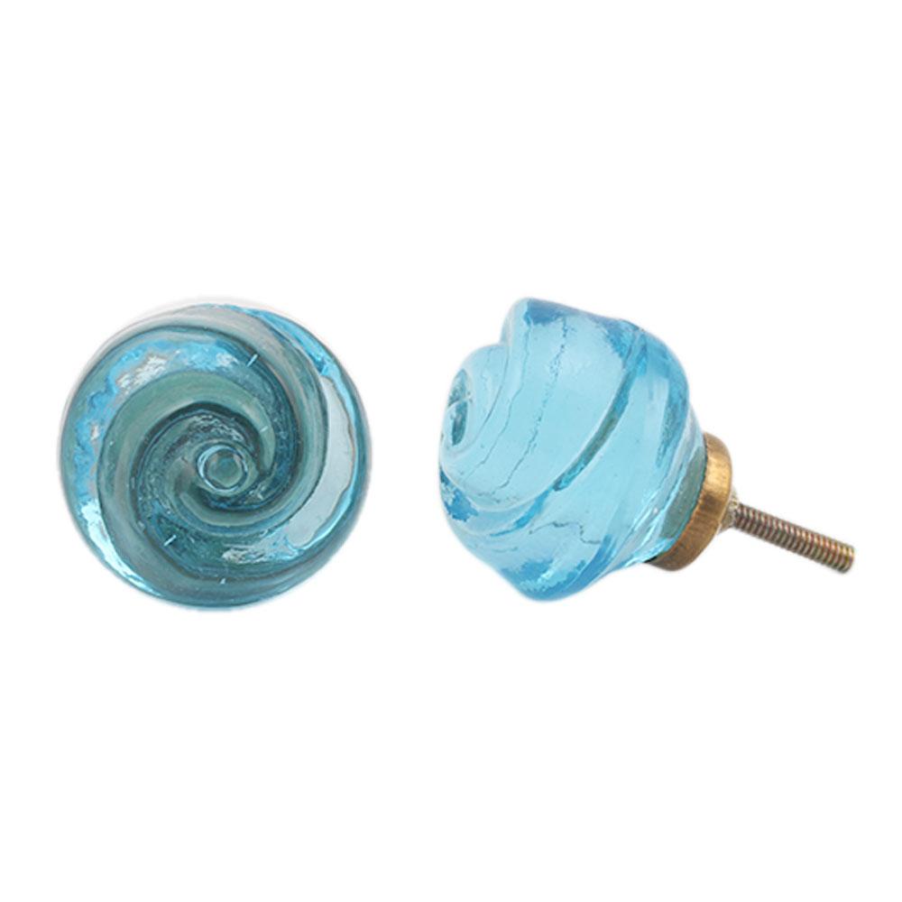 Turquoise Rose Knob