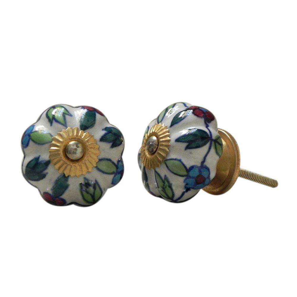 Okra Ceramic Knob